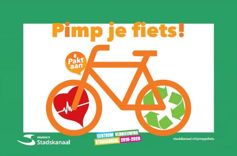Poster pimp je fiets wedstrijd